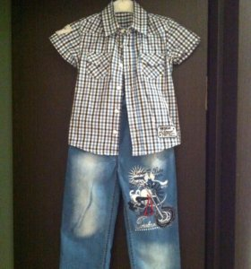 Джинсы + Рубашка