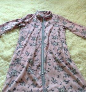 Женский плюшевый халат
