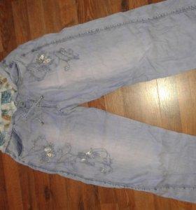 Женские штаны джинсовые