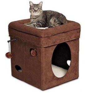 """Дом-когтеточка """"Куб любознательной кошки"""""""