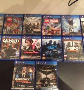 Диски PlayStation 4 ( 12 штук)