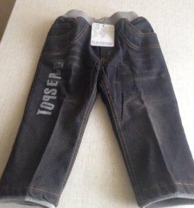 Новые джинсы для мальчиков утеплённые