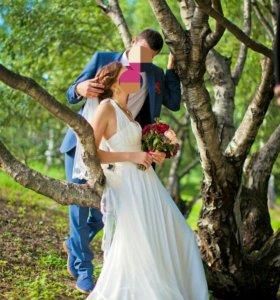 Свадебное платье р 44, фата