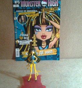 Фтгурки кукол монстер хай + журнал.