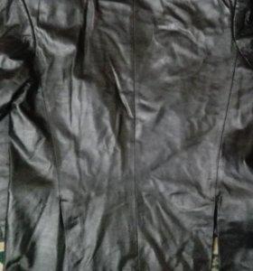 Пиджак кожаный классика.