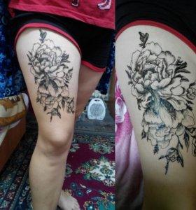 Мехенди ( рисунок хной) и татуировка