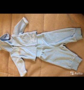 Комплект штанишки с кофтой велюр