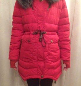 Зимнее красное пальто(куртка)