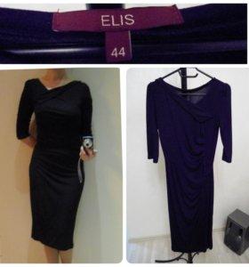 Черное платье элегантное elis в отличном состоянии
