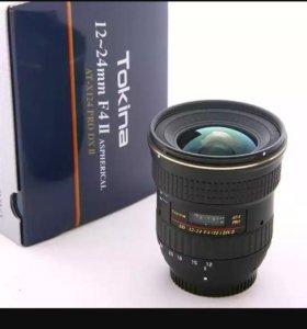 Объектив широкоугольный Tokina 12-24 f4 для Canon