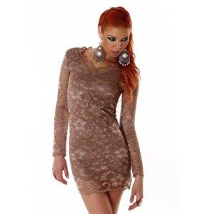 Гипюровое новое платье