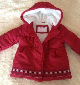 Теплое пальто для девочки 18-24 месяца