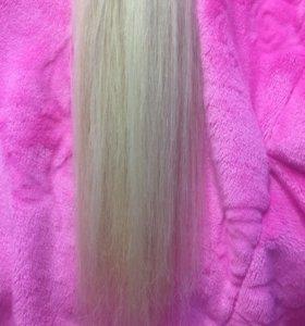 Славянские натуральные волосы для наращивания 50см
