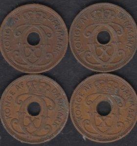 Дания 1 эре 1928-1939. 8 монет