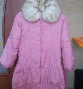 Пальто зимнее на халафайбере