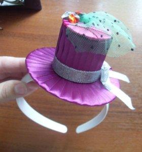 Ободок шляпка
