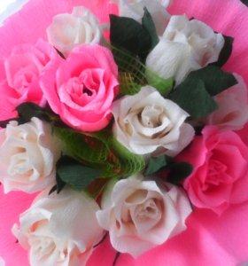 цветочные букеты с конфетами