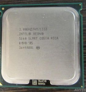 Intel xeon 5160 SL9RT 3GHZ / 4M / 1333 Socket 771