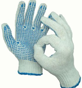 Рабочие перчатки х.б с пвх