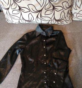 Рубашка (классика) атласная ткань