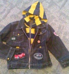 Куртка детская джинсовая 3-4 года