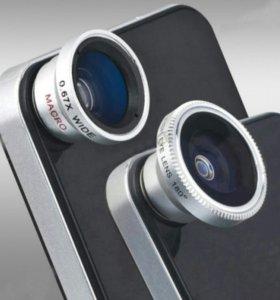 насадки объектив на камеру телефона (планшет)