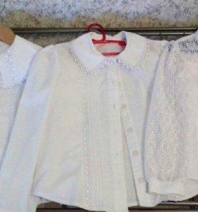 Рубашки, 3шт,122-128см
