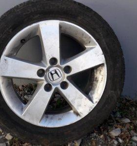 Липучка Continental на дисках Honda 205/55/R16