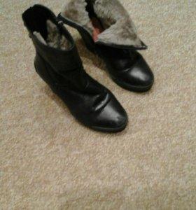 Женские ботиночки зимние размер 37