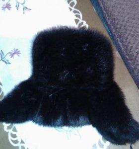 Мужская шапка-ушанка норковая