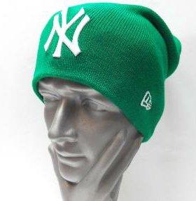 Шапка чулок NY(Зеленая)