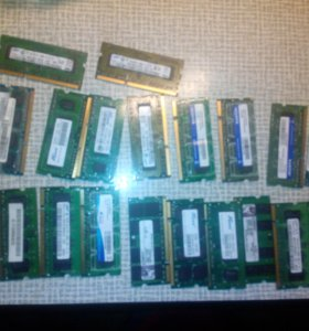 Рабочая оперативная память ноутбуков DDR2 DDR3.