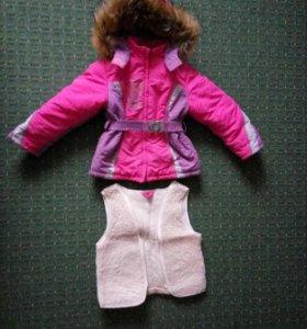 Зимняя куртка для девочки 116р-р