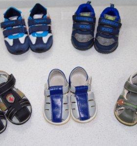 Обувь на мальчика ботинки, сандали, кроссовки