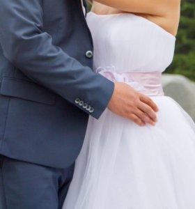 Свадебное платье на рост 150-160 см