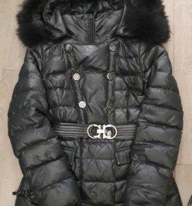 Куртка черная пуховик
