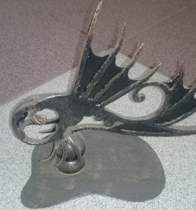Кованая Золотая рыбка. Ручная ковка
