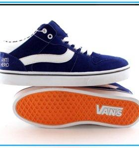 Кеды Vans high синие
