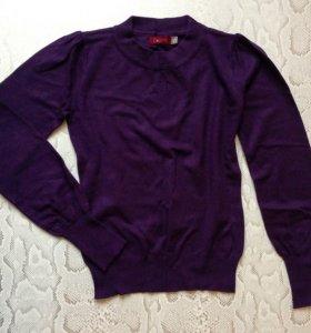 Свитер р. 40-42 фиолетовый тонкий