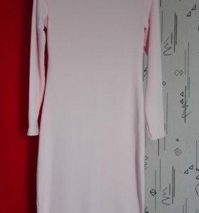 Платье розовое и коричневое