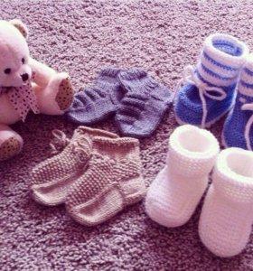 Носочки  и пинетки для самых маленьких