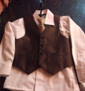 Жилетка рубашка галстук