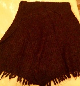 Шарф ручной вязки новый натуральная длинная шерсть