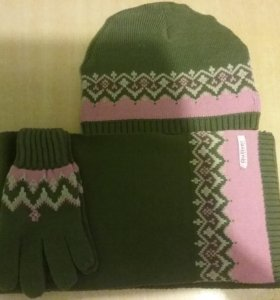 Шапка+шарф+перчатки guллiver д/д p.56