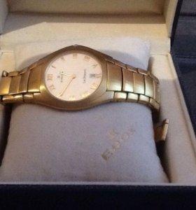 мужские супертонкие часы  Швейцария - эдокс