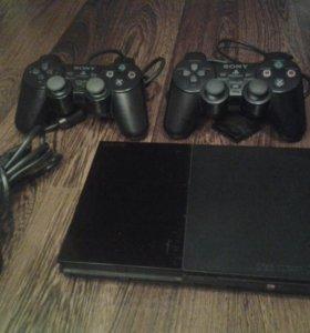 Sony PlayStation 2 + игры (God of War, Fifa)