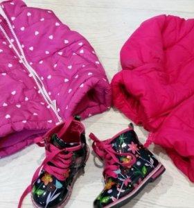 Стильные ботиночки для малышки 21р