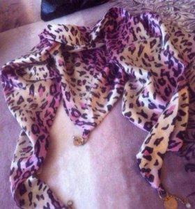 Новый платок косынка двойная шелковый эластичн.атл