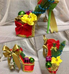 Туфелька-подарок ручной работы