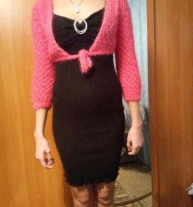 Платье теплое ,свитер